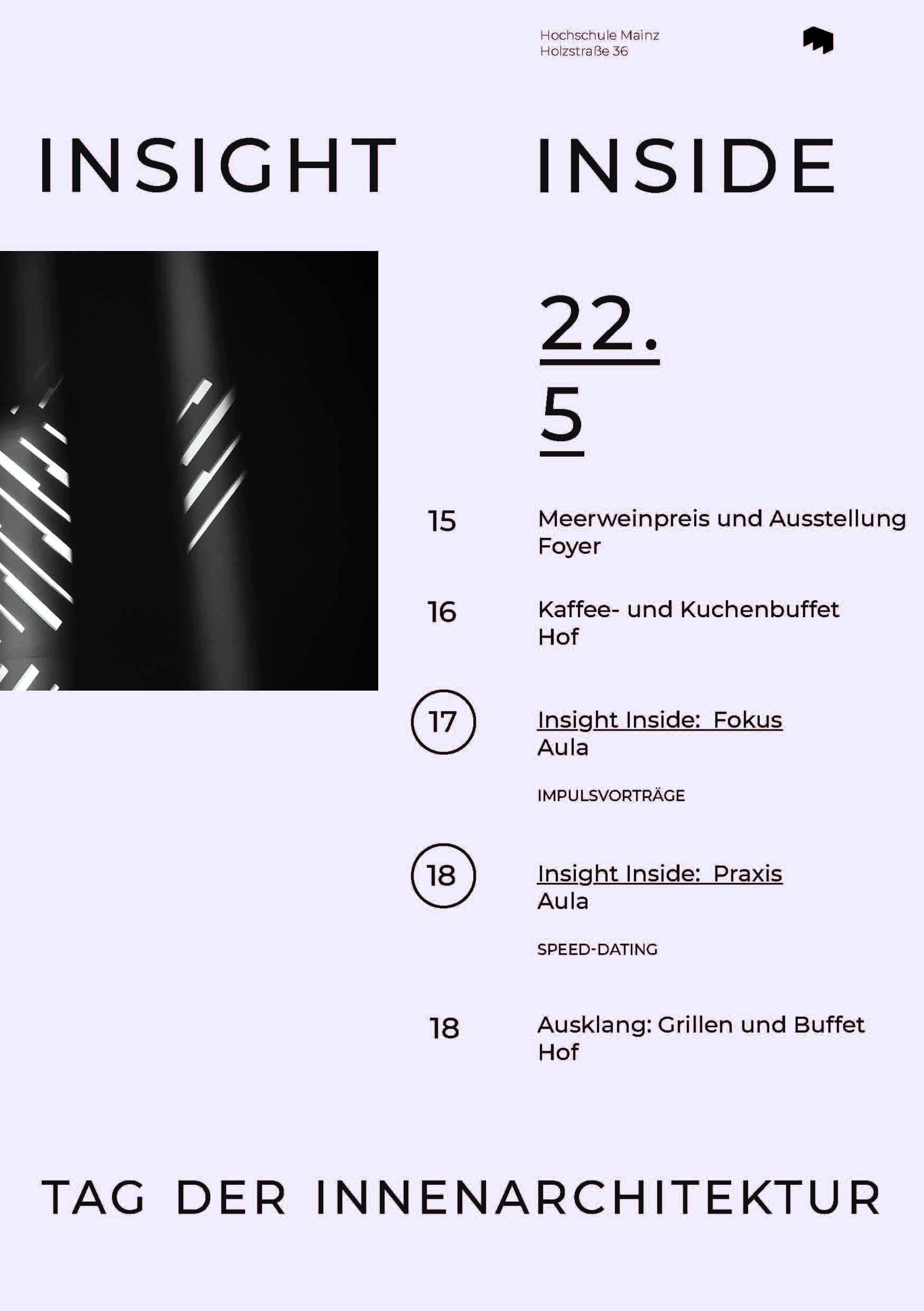 Vortrag zum Tag der Innenarchitektur der Hochschule Mainz